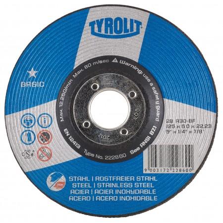 Tyrolit BASIC Grinding Wheels for Steel-Type 28
