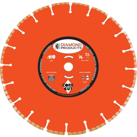 Heavy Duty Orange H.P. Turbo Blades