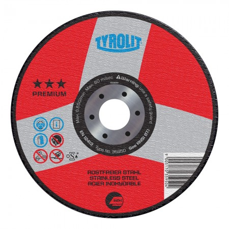 Tyrolit PREMIUM INOX Wheels for Stainless Steel & Acid-Resistant Steel-Type 27
