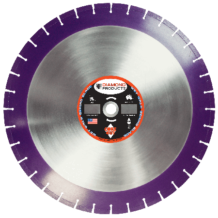 Imperial Purple Cured Concrete Diamond Blade
