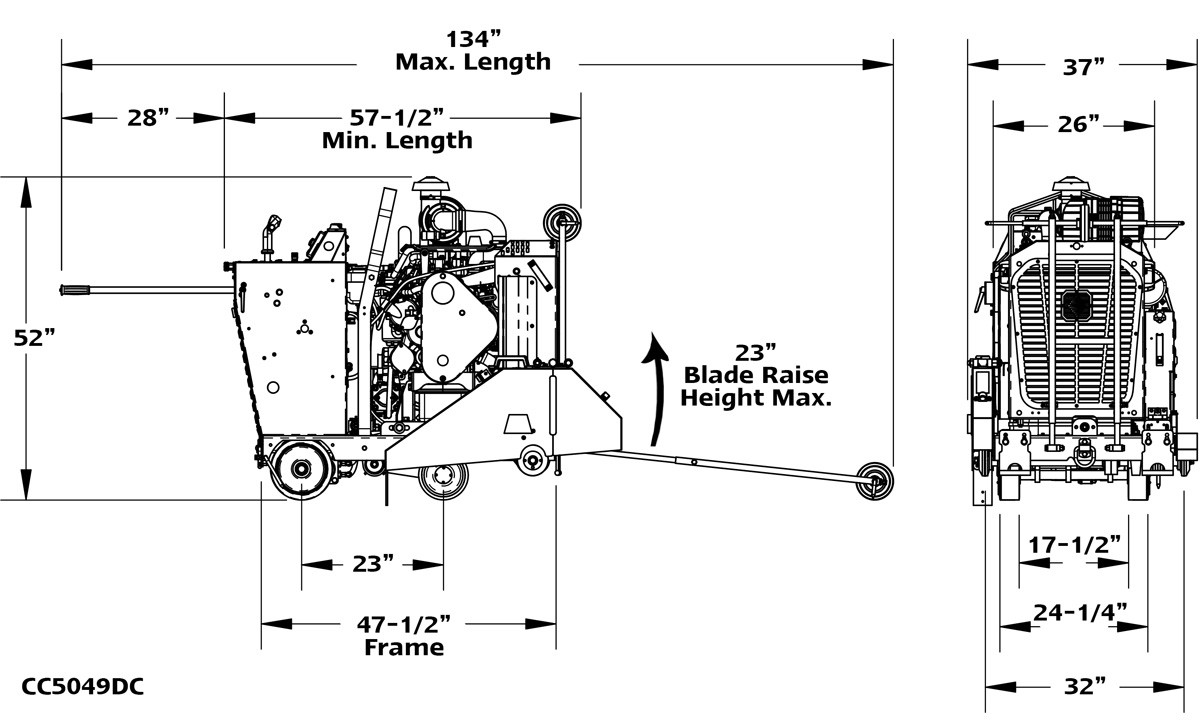 CC5049DC Dimensions