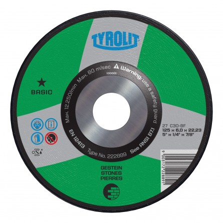 Tyrolit BASIC Wheels for Concrete/Masonry-Type 27