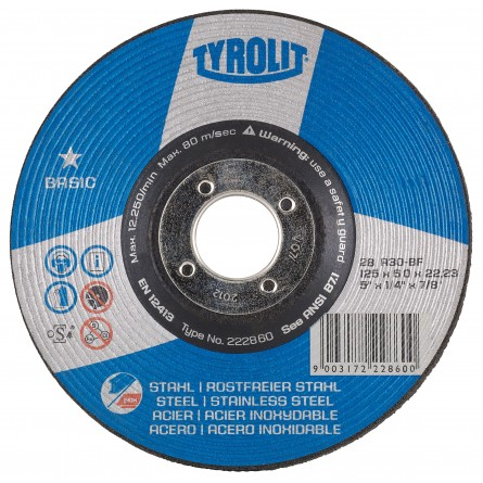 Tyrolit BASIC Grinding Wheels for Steel-Type 28