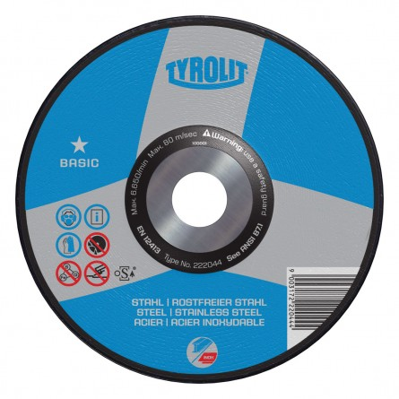 Tyrolit BASIC Wheels for INOX, Steel & Stainless Steel-Type 27
