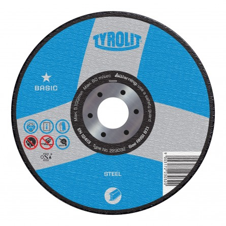 Tyrolit BASIC Portable Electric Saw Wheels for Steel-Type 1