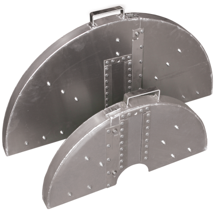 TWO-PIECE BLADE GUARDS WITHOUT WATER TUBES