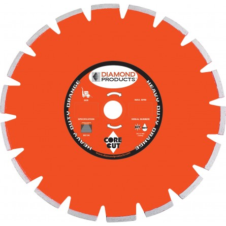 Heavy Duty Orange Segmented Dry Walk Behind Blades