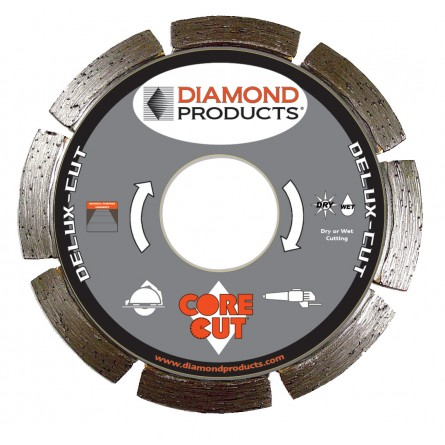 Delux-cut Segmented Small Diameter Diamond Blade