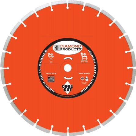 Heavy Duty Orange Segmented Masonry Diamond Blade
