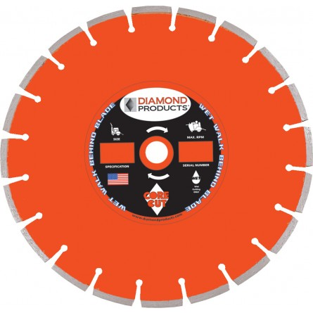 Heavy Duty Orange Cured Concrete Diamond Blades