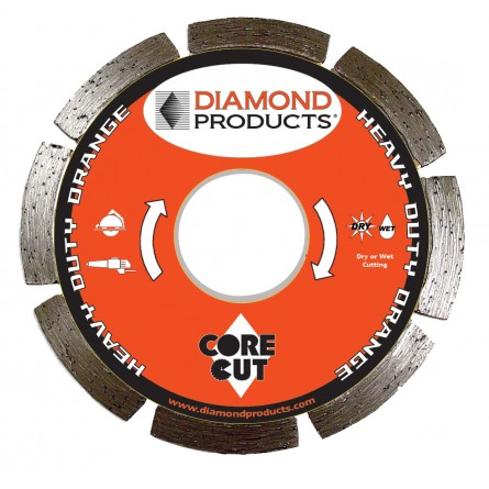 Heavy Duty Orange Segmented Small Diameter Diamond Blade