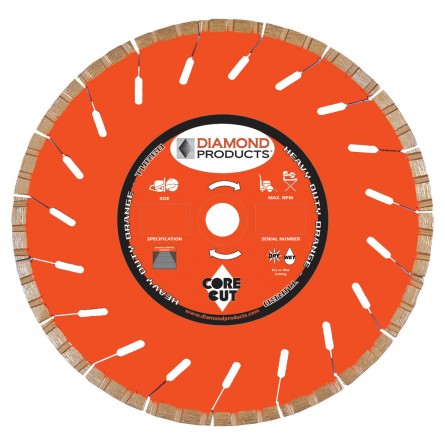 Heavy Duty Orange High Speed Turbo Blades
