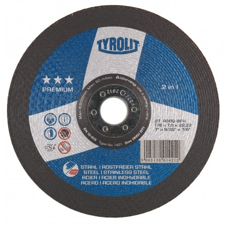 Tyrolit PREMIUM 2 in 1 Wheels for Steel & Stainless Steel-Type 27