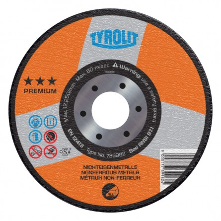 Tyrolit PREMIUM Grinding Wheels for Aluminum & Non-Ferrous Materials-Type 27