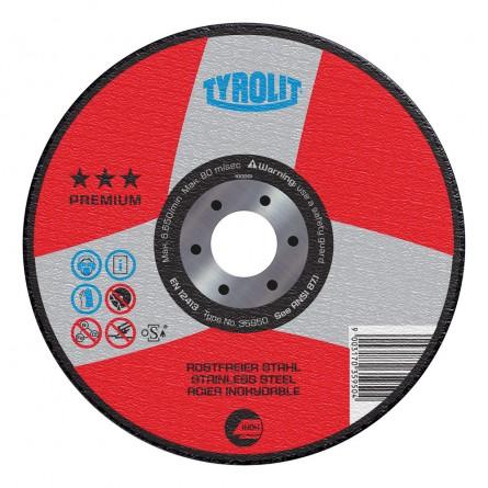 Tyrolit PREMIUM INOX Wheels for Stainless Steel & Acid-Resistant Steel-Type 27