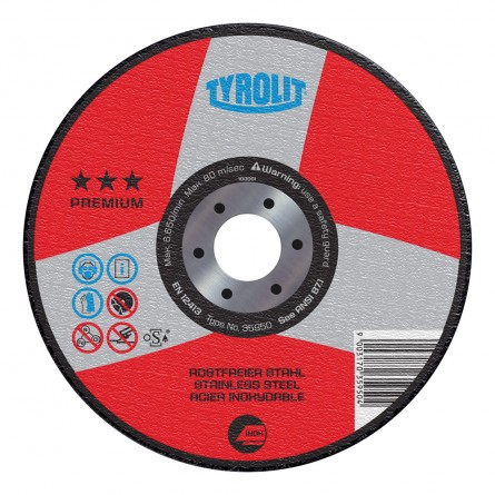 Tyrolit PREMIUM 2 in 1 Wheels for Steel and Stainless Steel-Pipeline Application-Type 27