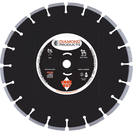 Premium Black Cured Concrete Diamond Blades