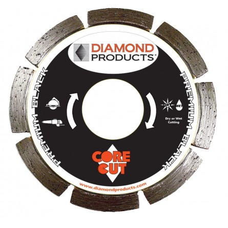 Premium Black Segmented Small Diameter Diamond Blade