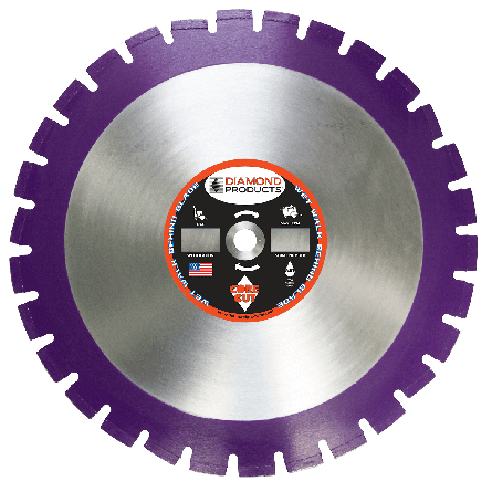 Imperial Purple Asphalt/Green Concrete Diamond Blades