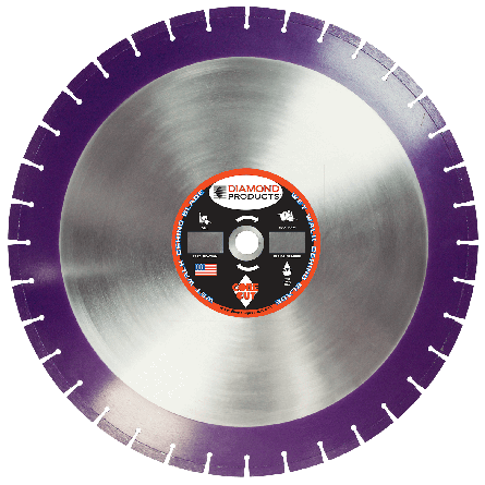 Imperial Purple Cured Concrete Diamond Blade