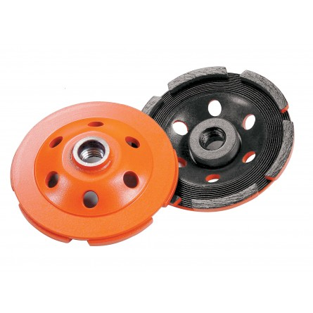 Heavy Duty Orange Segmented Cup Grinders