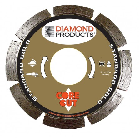 Standard Gold Segmented Small Diameter Diamond Blades