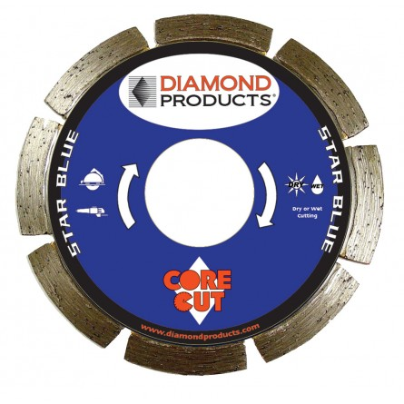 Star Blue Segmented Small Diameter Diamond Blades