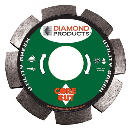 Utility Green Segmented Tuck Point Diamond Blades