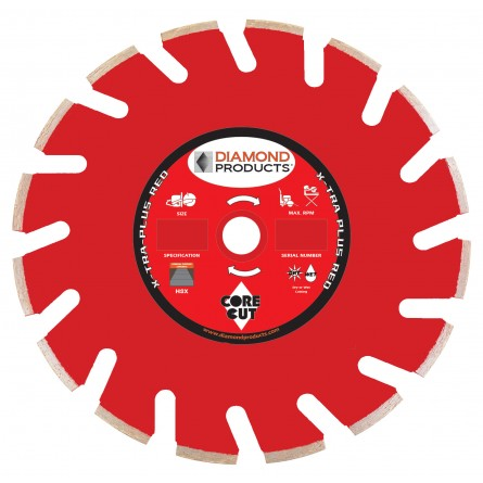 X-Tra Plus Red Ultimate High Speed Diamond Blades